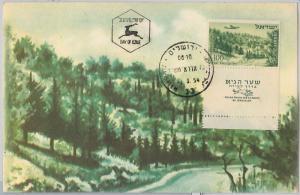 56436 -   ISRAEL - POSTAL HISTORY:  MAXIMUM CARD 1954 - AVIATION Nature
