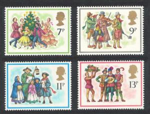 Great Britain Christmas 4v issue 1978 SG#1071-1074 SC#847-850