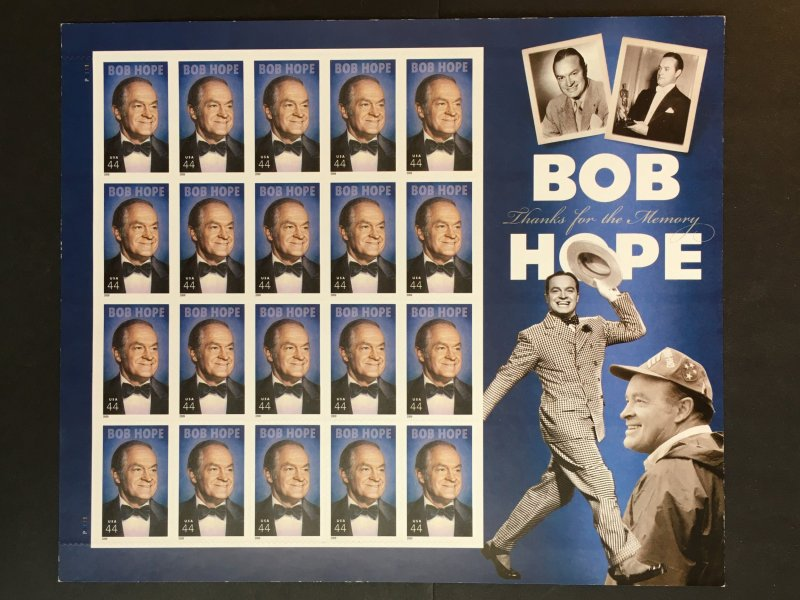 2009 Legends of Hollywood sheet Bob Hope Sc# 4406