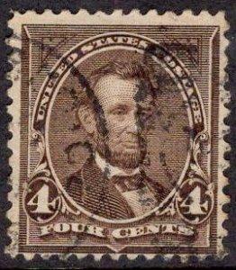 US Stamp #269 4c Lincoln SCV $3.50