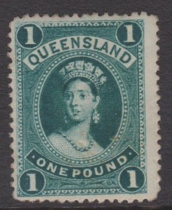 Queensland Sc#83 MNH - area of gum disturbance per 2nd scan