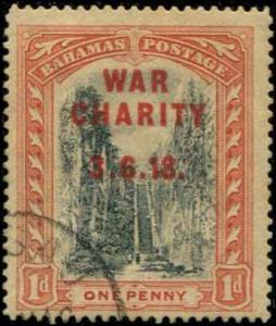 Bahamas SC# B2 SG# 93 War Charity o/p 1d used