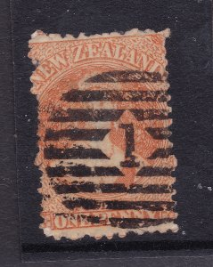 New Zealand a QV used 1d orange from 1864