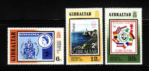 Gibraltar 356-358 Set MNH Stamps on Stamps, Stamp Expo