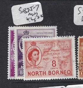 NORTH BORNEO   (P2704B)  QEII  4C-8C  SG 375-7   MOG
