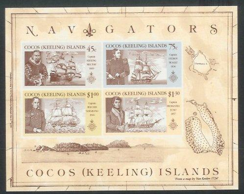 Cocos Is - 1990 Navigators of the Pacific (MNH)