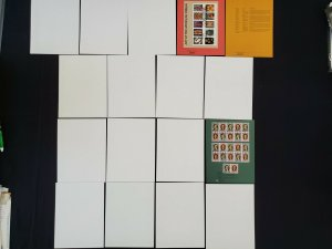 US 2004 Lot of 17 USPS American Commemorative Cancellations Stamp Panels