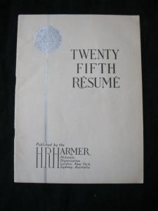 25th ANNUAL RESUME OF H R HARMER SEASON 1949-50