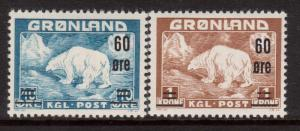 Greenland #39 - #40 VF Mint Set