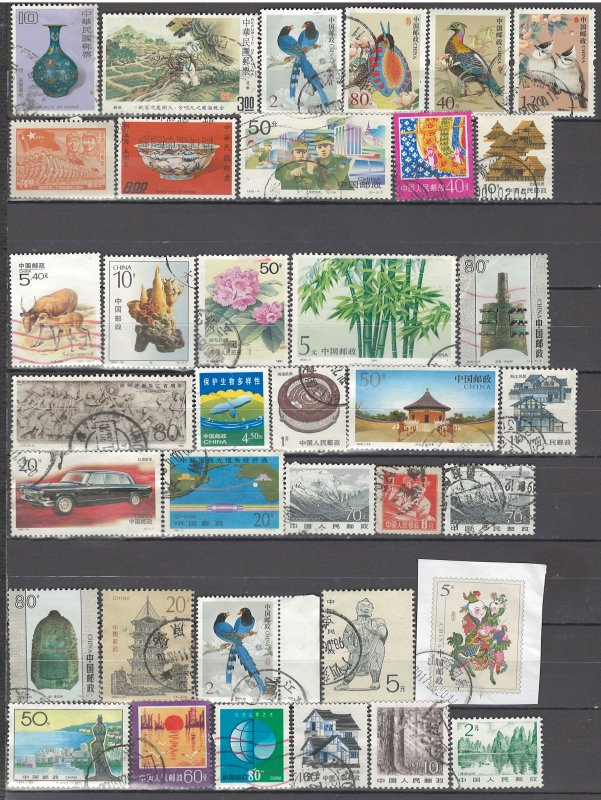 COLLECTION LOT OF #1027 CHINA 37 STAMPS 1949+ CLEARANCE