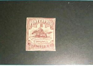 US  PONY EXPRESS WELL FARGO #143L1 cat.$190.00 BUT 19th CENTURY PRIVATE REPRINT
