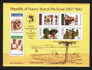 Nauru. 1982. bl5. Scouts. MNH.