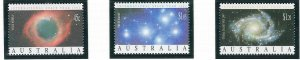 Australia 1258-60 MNH 1992 Int'l Space Year (ap7334)