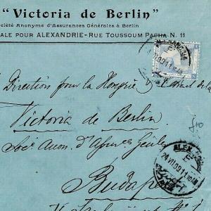 CS229 Egypt PYRAMIDS FRANKING *Victoria de Berlin* BANK Cover {samwells-covers}