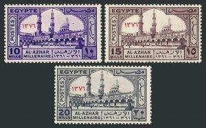 Egypt 395-397,MNH.Michel 504-506. Millennium of Al Azhar University,Cairo,1957.