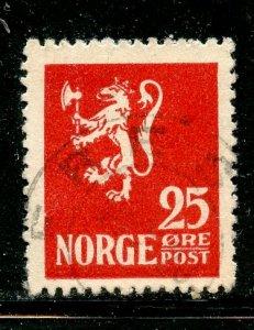 Norway # 120, Used. CV $ 3.00