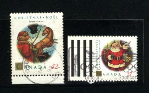 Canada #1452, 1455   -2   used 1992 PD