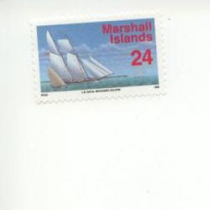 1993 Marshall Islands US Naval Schooner (Scott 447) MNH