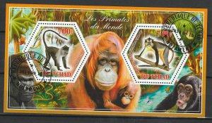 Chad Used S/S Primates Monkeys 2014