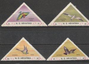 Croatia Mint OGH Birds