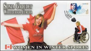 CA18-005, 2018, Women in Winter Sports, Sonja Gadudet, Day of Issue, FDC,