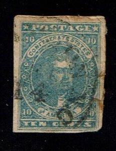 Scott #CSA#2 F/VF-used. SCV - $180.00