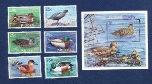 KIRIBATI - Scott 772-778  - FVF MNH - Birds, Ducks - 2001