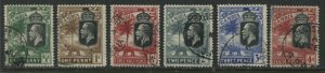 Gambia KGV 1922 various values to 4d used