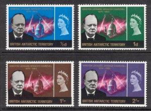 BRITISH ANTARCTIC 1966 Churchill; Scott 16-19, SG 16-19; MNH