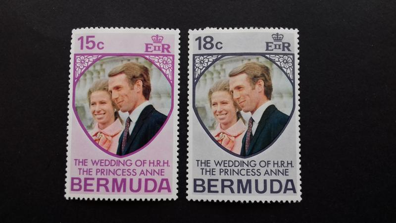 Bermuda 1973 Royal Wedding Mint