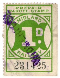 (I.B) Midland Railway : Prepaid Newspaper Parcel 1d (Widmerpool)