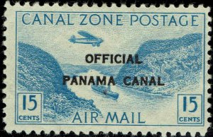 CANAL ZONE #CO3 1941 OFFICIAL CANAL ZONE OVERPRINT ON 15c AIR MAIL ISSUE-MINT-H