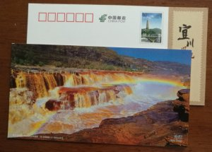 Waterfall & rainbow,CN 12 shaanxi yichuan hukou waterfalls series landscape PSC
