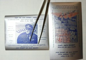 Chicago's Annual Air Mail Exhibition 1946 Jack Knight Philatelic Souvenir Label