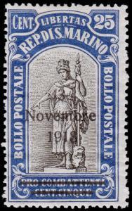 San Marino Scott B13 (1918) Mint VLH VF, CV $6.00