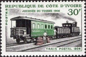 Ivory Coast 240 - Mint-NH - 30fr Mail Train, 1906 (1966) (cv $2.90)