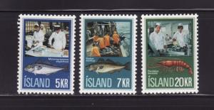 Iceland 435-437 Set MH Fish Industry