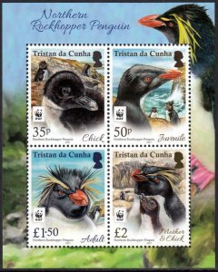 TRISTAN DA CUNHA 2017 WWF BIRDS PENGUIN OISEAUX VOGEL UCCELLO AVES [#1702]