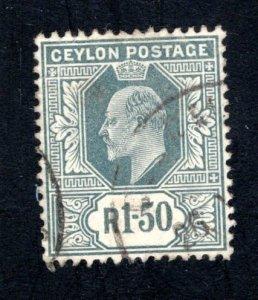 Ceylon #192,  VF, Used, CV $20.00 ....  1290157