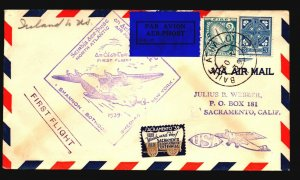 Ireland 1939 First Flight Cover to New York - Z17839
