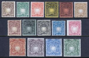 BR. EAST AFRICA — SCOTT 14//30 (SG 4//19) — 1890-95 ISSUE — MH/MNG — SCV $120.50