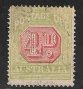 AUSTRALIA  Scott J55a Used  Postage due perf 14 wmk 10 CV$23