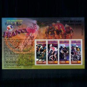 [101732] Micronesia 2003 Cycling tour de France Indurain Lemond Sheet MNH