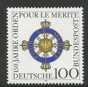 GERMANY 1746, MNH STAMP, ORDER OF MERIT, 150TH ANNIVERSARY