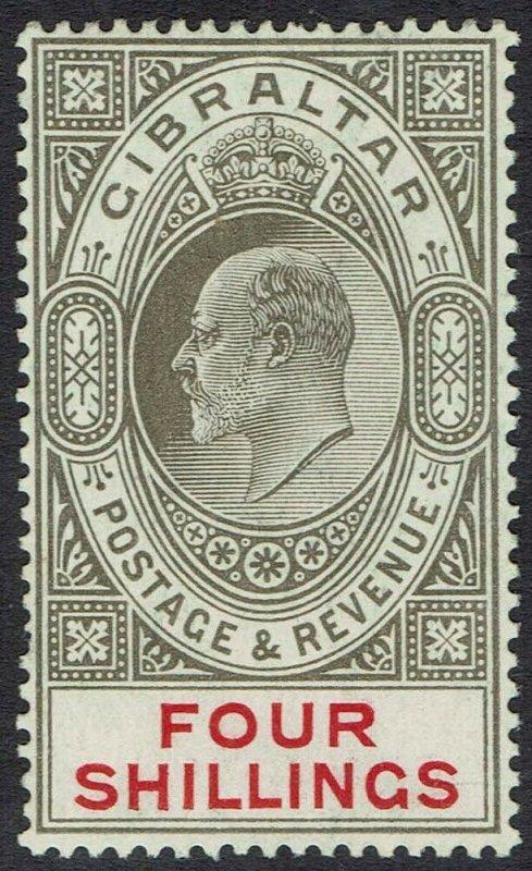 GIBRALTAR 1906 KEVII 4/-