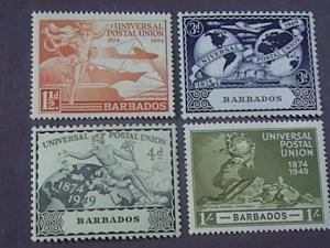 BARBADOS # 212-215 -MINT/NEVER HINGED---COMPLETE SET---GEOVI---1949