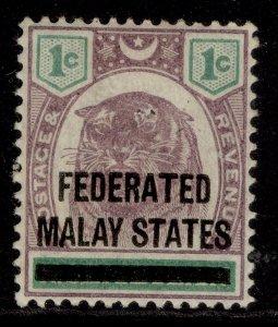 MALAYSIA - Federated Malay EDVII SG1, 1c dull purple & green, M MINT.