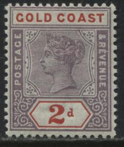 Gold Coast QV 1898 2d mint o.g.