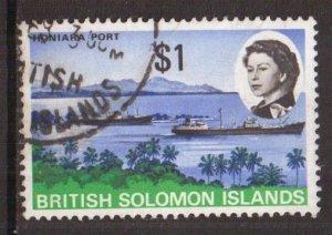 Solomon Islands  #193   used   1968 Honiara Port  $1