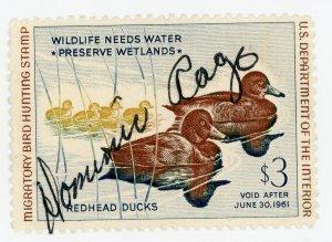 #RW27 – 1960 $3.00 Redhead Ducks. Used.